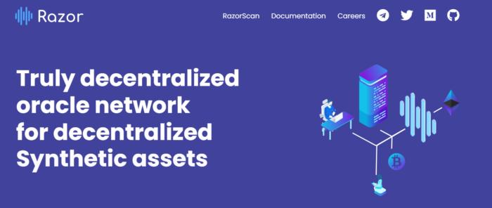 Razor Network - скриншот главной страницы сайта